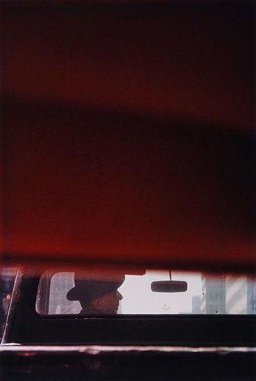 Saul LEITER :: Man in Car, 1950