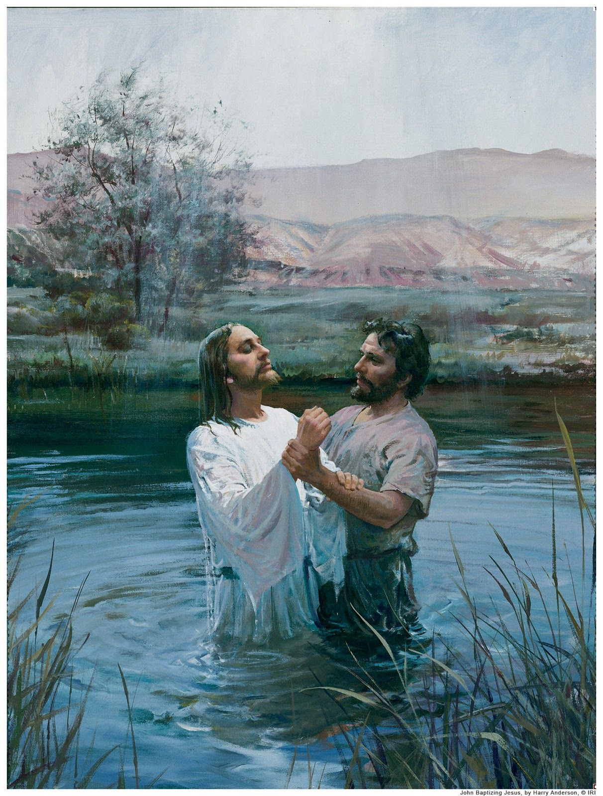 Follow the example of the savior baptism by immersion