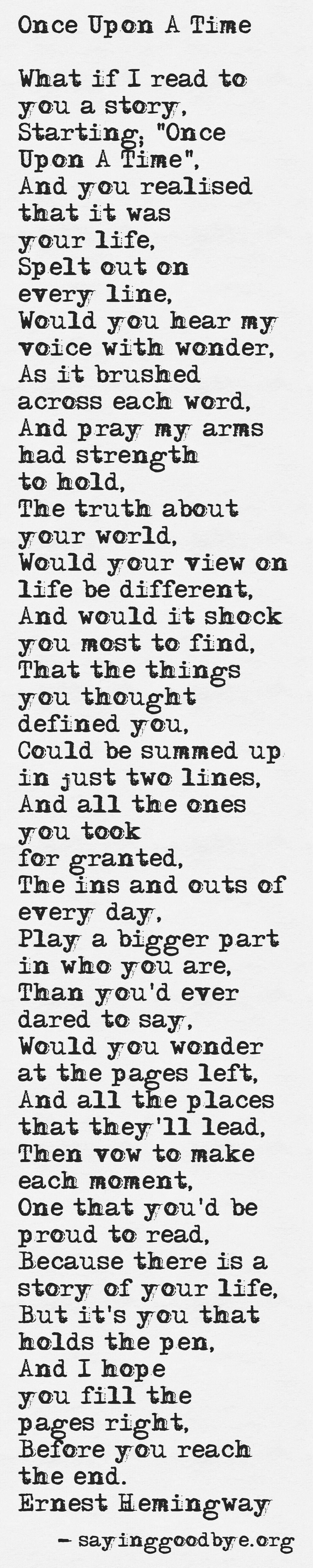 once upon a time poem