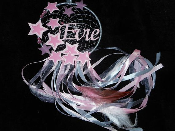 Glow In The Dark Stars Pink Dreamcatcher With Name DREAM CATCHERS Magnificent Dream Catcher With Names