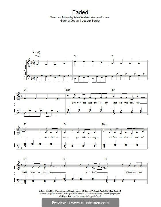 Faded Muzik Notalari Piyano Egitimi Piyano