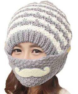 b635a1b5726 Women s Winter Hat With Mustache Mask
