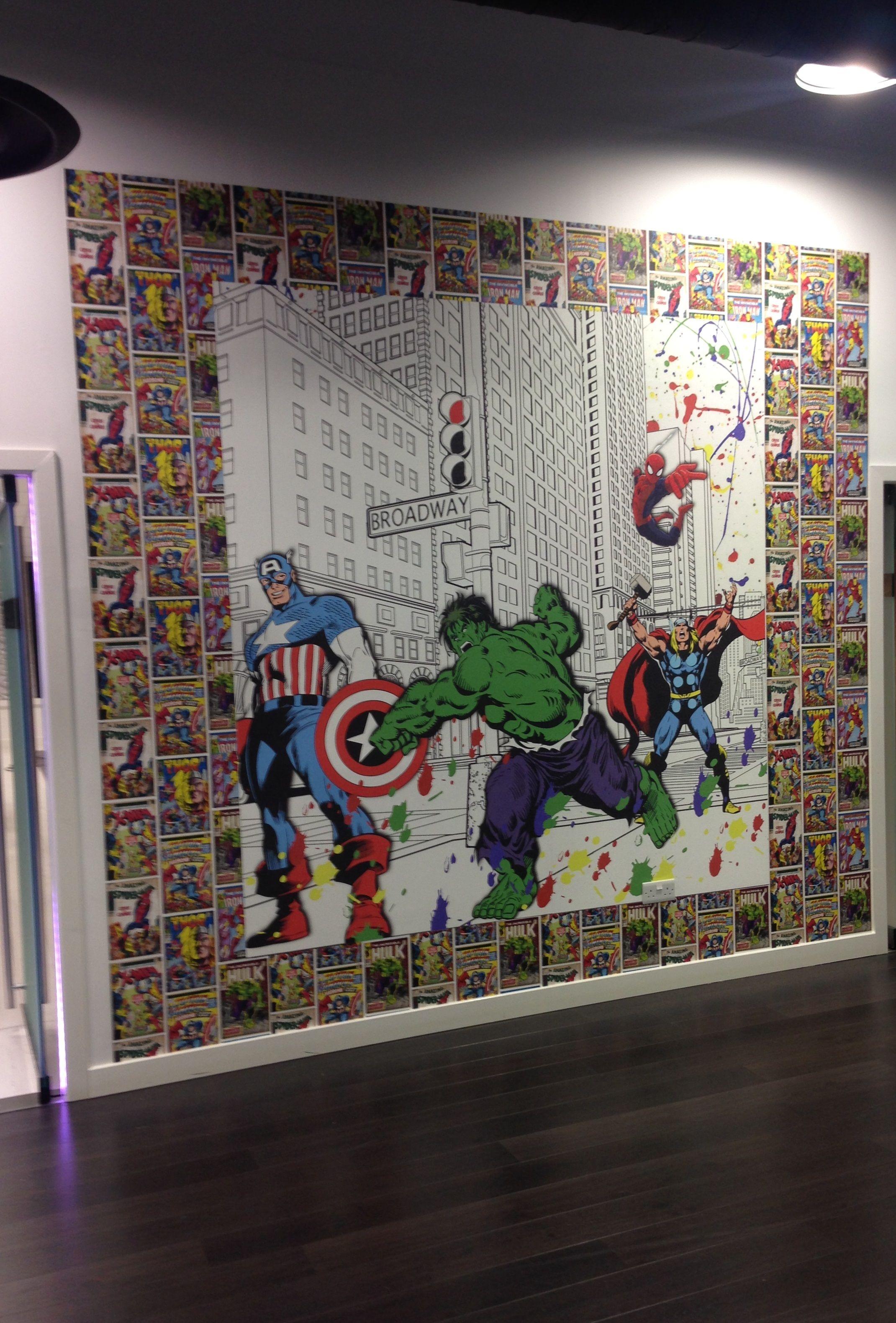 Marvel Bedroom Wallpaper Graham Brown Comics Strip Wallpaper Multi Bedroom Boys