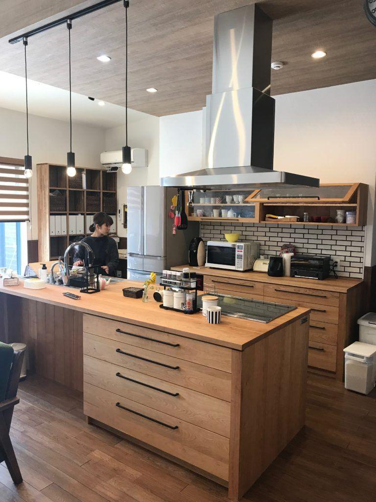 愛知県 碧南市のアイランドキッチン スタジオママル 2020 キッチンデザイン キッチンインテリアデザイン リビング キッチン