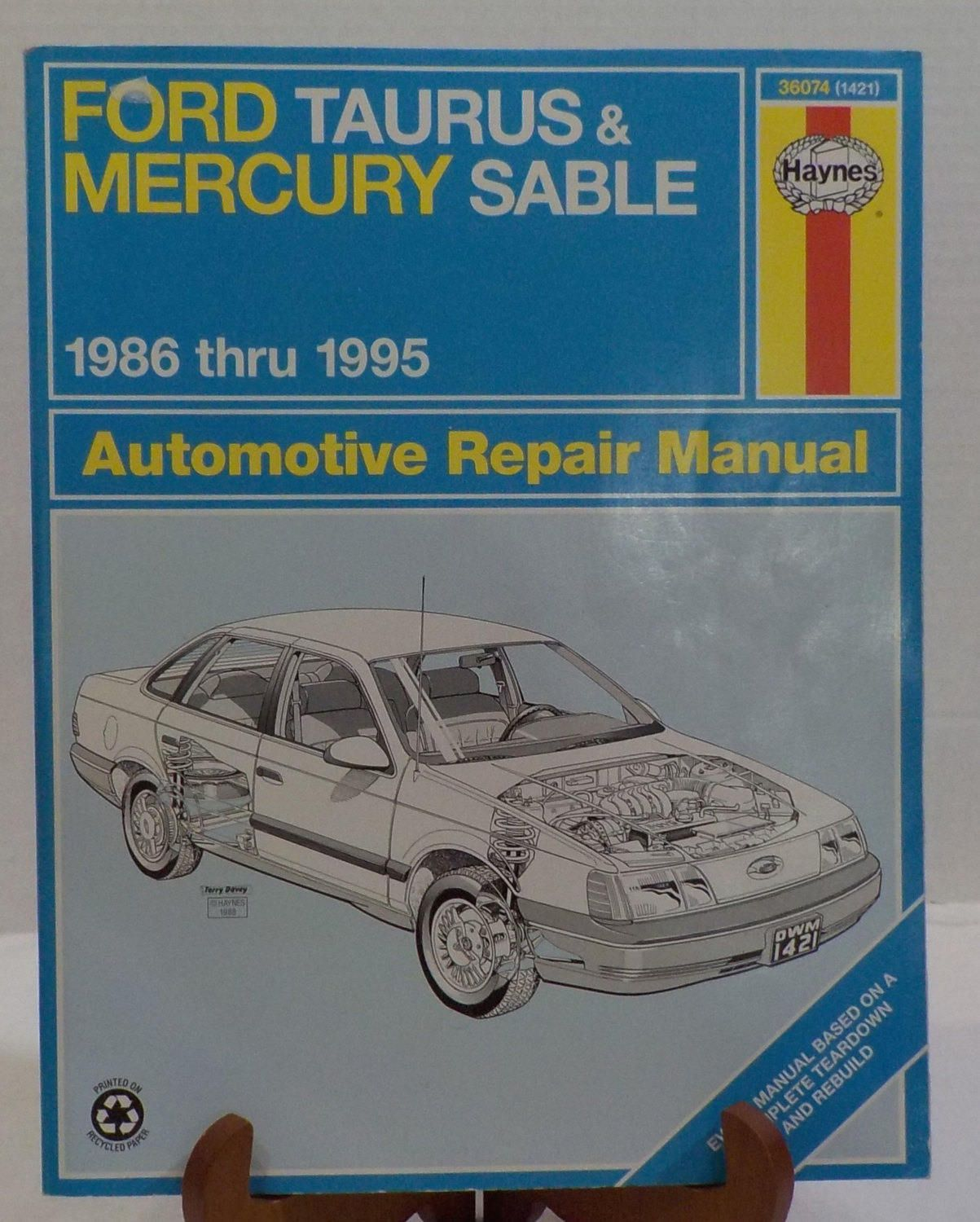 Ford Taurus Mercury Sable 1986 - 1995 Repair Manual Haynes by  LouisandRileys on Etsy
