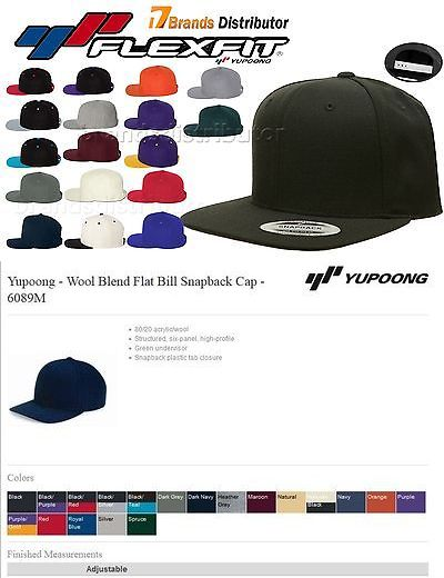 65a6ba910cebe Hats 163526  40 Lot Classic Snapback Snap Back Baseball Blank Plain Hat  Caps Yupoong 6089M -  BUY IT NOW ONLY   235 on eBay!
