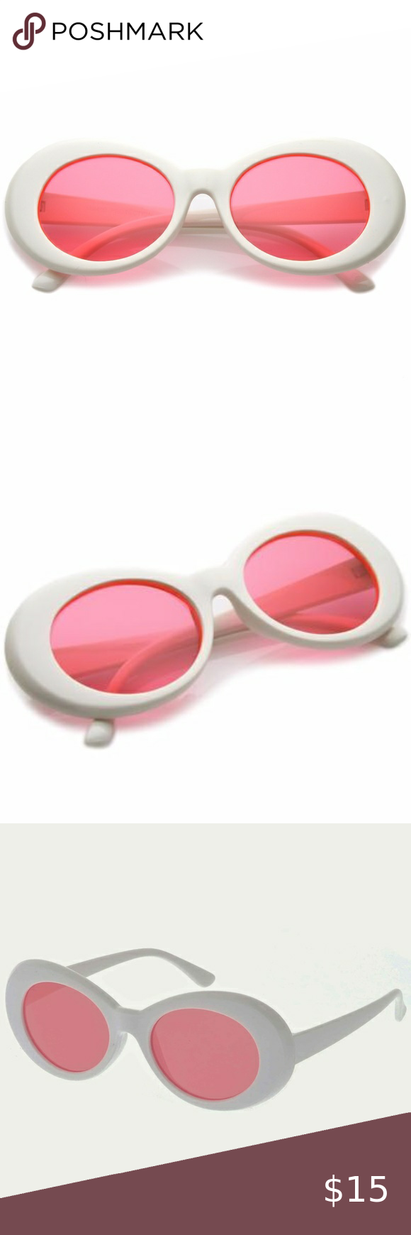 White And Pink Kurt Cobain 90s Clout Goggles Nwt In 2020 Hipster Fashion Sunglasses Accessories Clothes Design