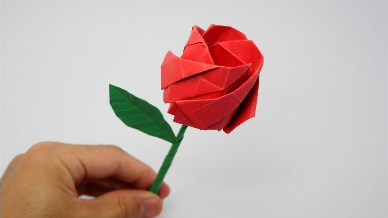 Origami Rose Jo Nakashima Youtube Easy Origami Rose Easy Origami Flower Origami Magic Rose Cube