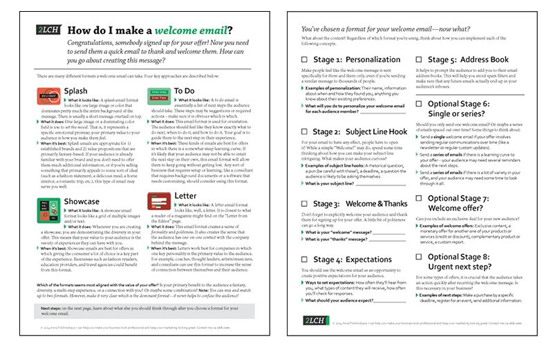 How To Design A Welcome Email 2lch Worksheet This Week Pinterest