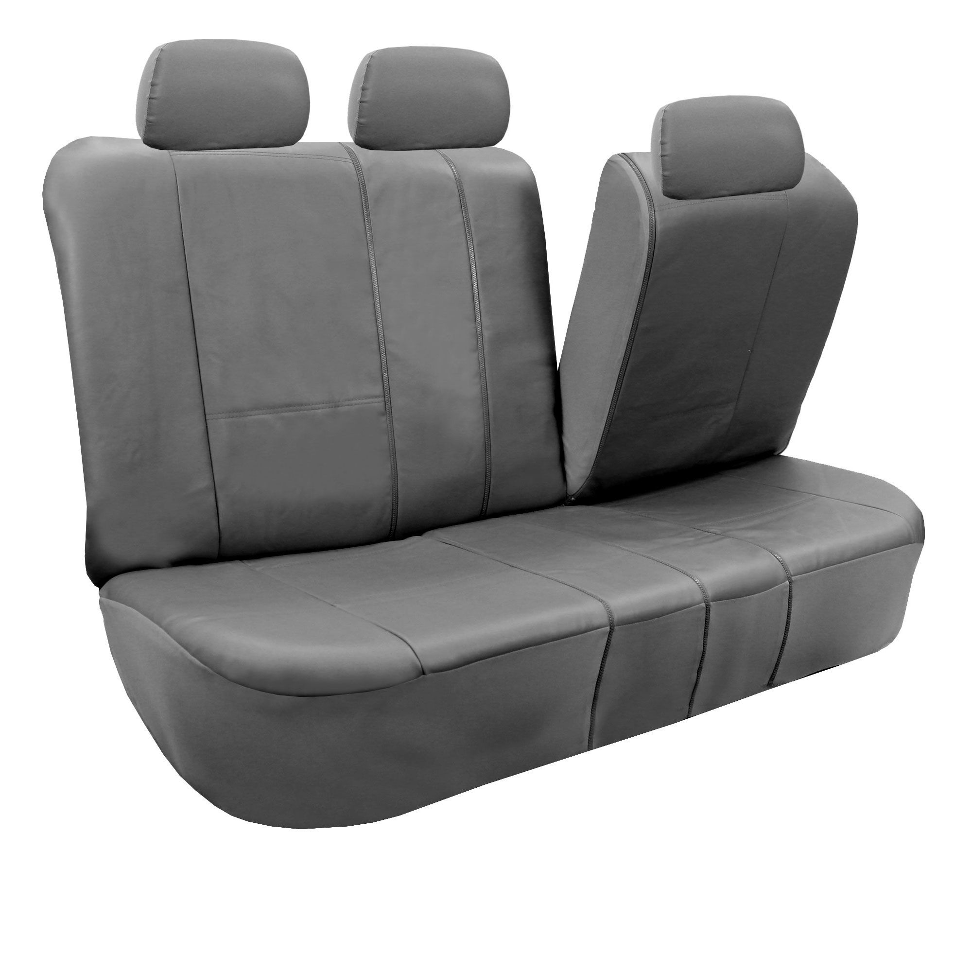 Fh group gray faux leather airbag compatible and split