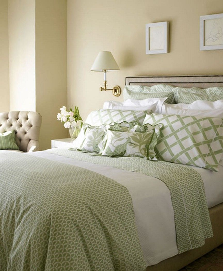 Bedrooms Stunning Green And Brown Bedroom Lime