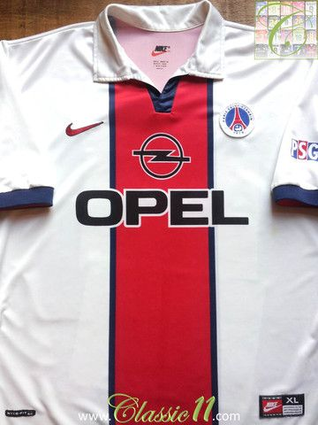 c082b9d6f Relive Paris st. Germain s 1998 1999 season with this vintage Nike ...