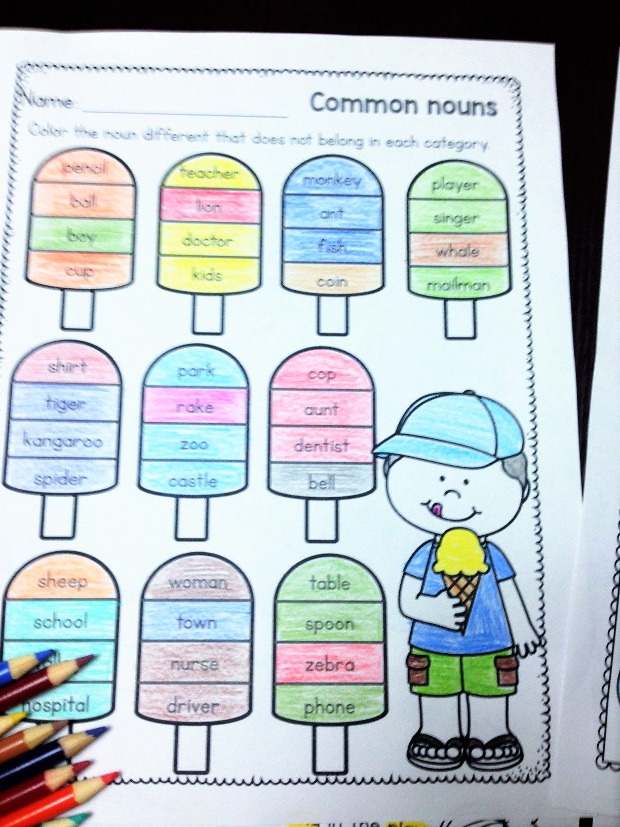 Common And Proper Nouns Worksheets