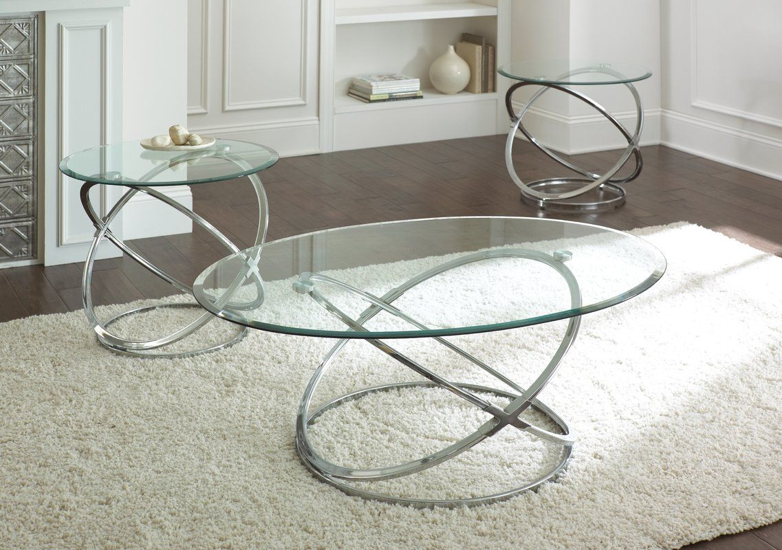 Ikon 3 Piece Coffee Table Set Coffee Table Setting Brass Round