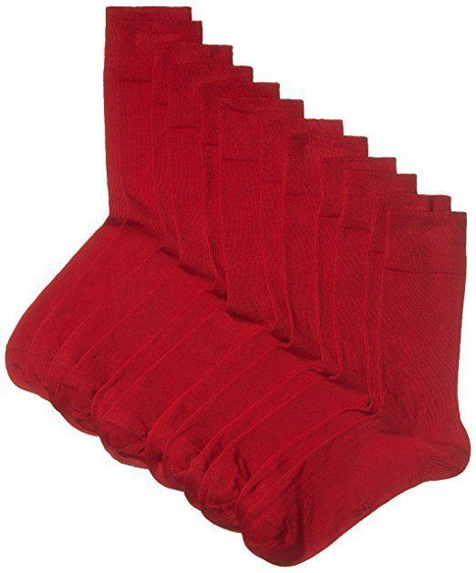 Myway Herren Socken 6er Pack Gr 39 42 Rot Rio Red 440 Herren Socken Socken Herrin