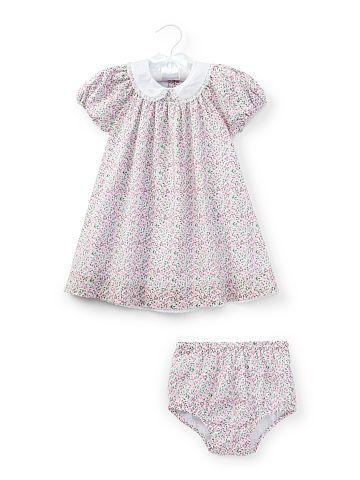 7b7dabe91f66 Baby Girl Floral Cotton Dress   Bloomer - Baby Girl Dresses   Rompers - Ralph  Lauren UK