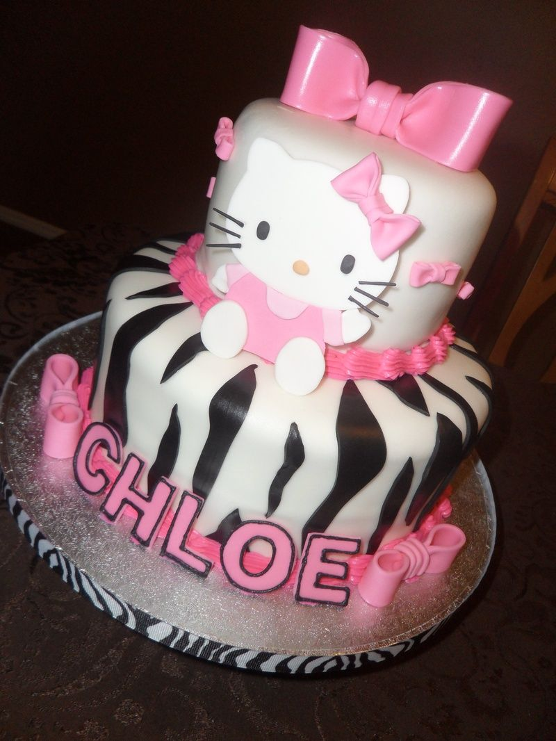 Hello Kitty Zebra Cake Your Sugar Mama Grace S Birthday