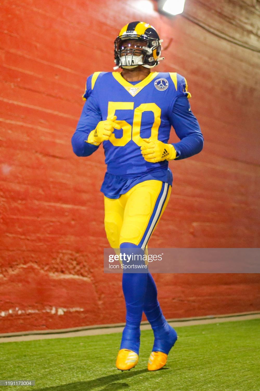 Los Angeles Rams Outside Linebacker Samson Ebukam Before An Nfl Game In 2020 Los Angeles Rams Los Angeles Nfl Games
