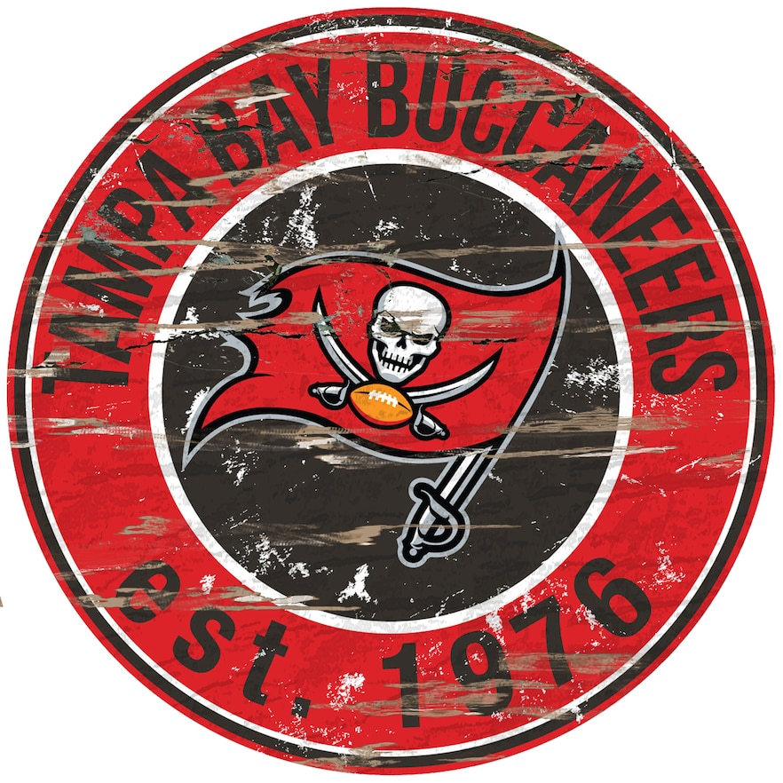 Tampa Bay Buccaneers Distressed 24 X 24 Round Wall Art In 2021 Tampa Bay Buccaneers Buccaneers Round Wall Art