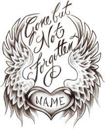 In Loving Memory Tattoo Drawings : loving, memory, tattoo, drawings, Wings, Diamond, Remembrance, Tattoos,, Brother, Tattoos
