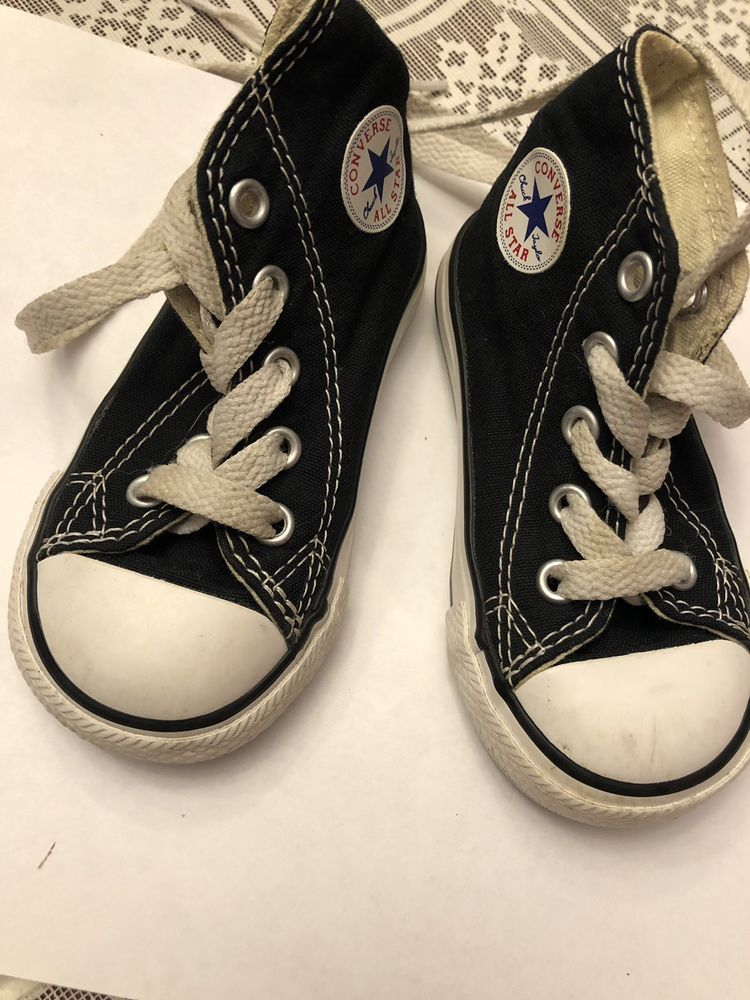 e21599be502e31 Toddler s Converse All-Star Chuck Taylor Black High Top Tennis Shoes Size 5   fashion  clothing  shoes  accessories  babytoddlerclothing  babyshoes  (ebay ...