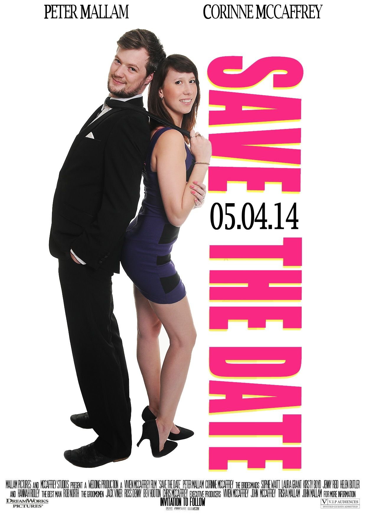 Wedding Save The Date movie poster Funny couple