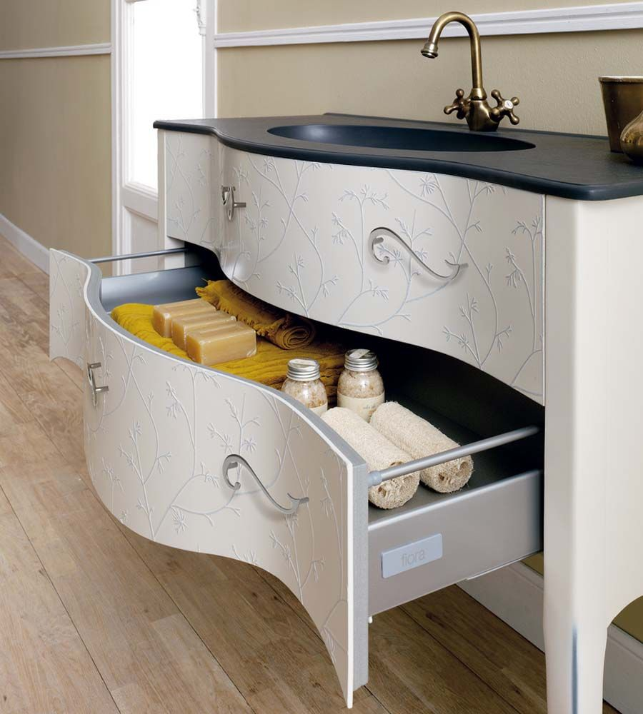 Large Vintage Style Free Standing Bathroom Basin Vanity Unit With Twin Storage Drawers Modern Ideas