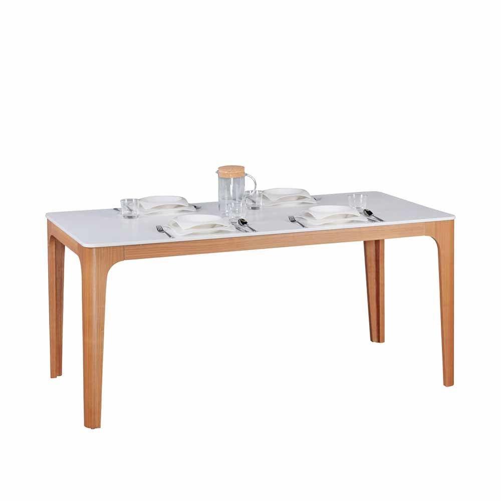 Tisch Mit Eiche Furniert Weiß Jetzt Bestellen Unter:  Https://moebel.ladendirekt.de/kueche Und Esszimmer/tische/esstische/?uidu003db112cc2b F6e9 52e2 9034   ...