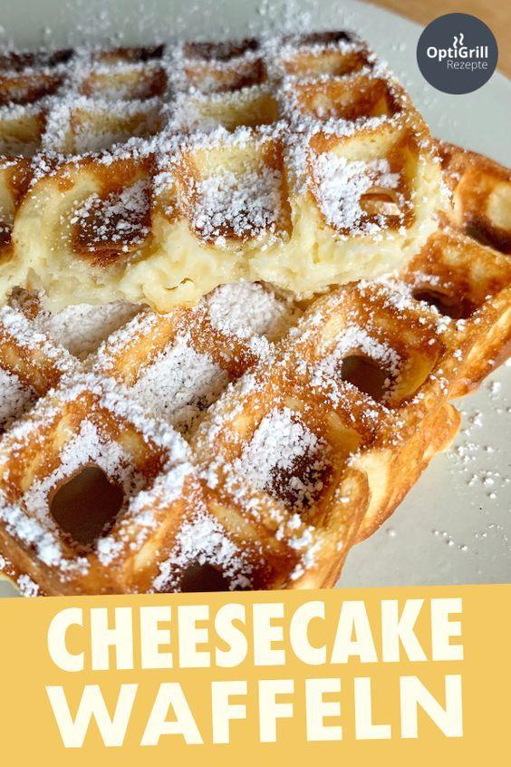 American Cheesecake Waffeln: Super saftig & lecker! - OptiGrill Rezepte