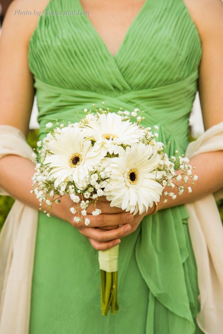 Bridesmaids bouquet of white gerber daisies and babys breath bridesmaids bouquet of white gerber daisies and babys breath izmirmasajfo