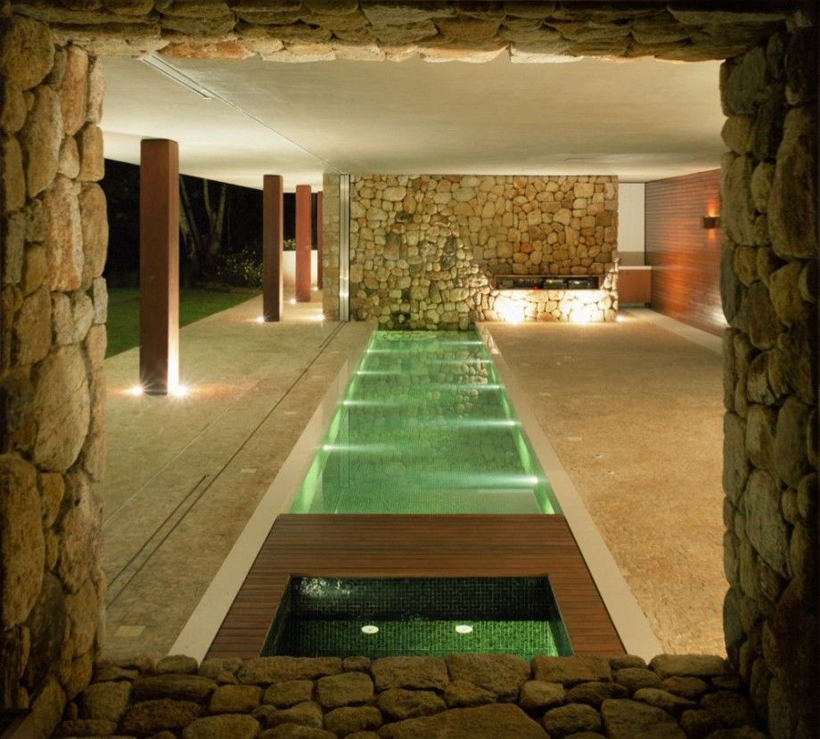 br house linear interior swimming pool design