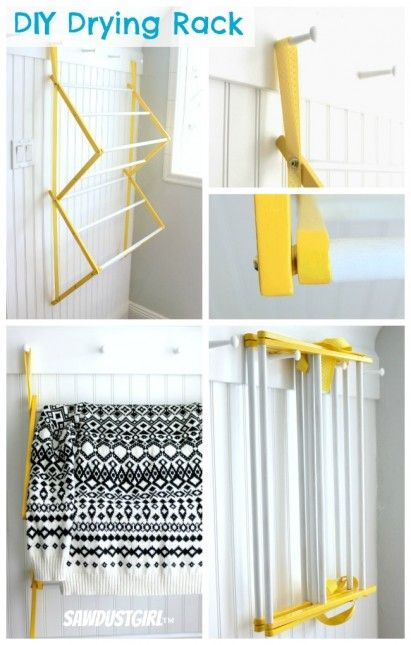 Hanging Drying Rack With Images Laundry Room Diy Drying Rack
