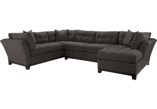 Shop for a Cindy Crawford Home Metropolis Slate Right 3 Pc Sectional at Rooms To Go  sc 1 st  Pinterest : shop sectionals - Sectionals, Sofas & Couches