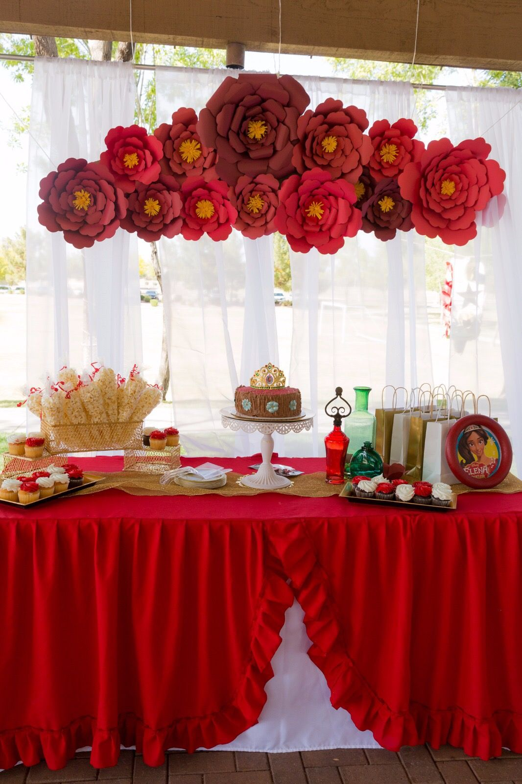 Elena Of Avalor Decorations Diy Birthday 5th Party Ideas Princess Centerpieces
