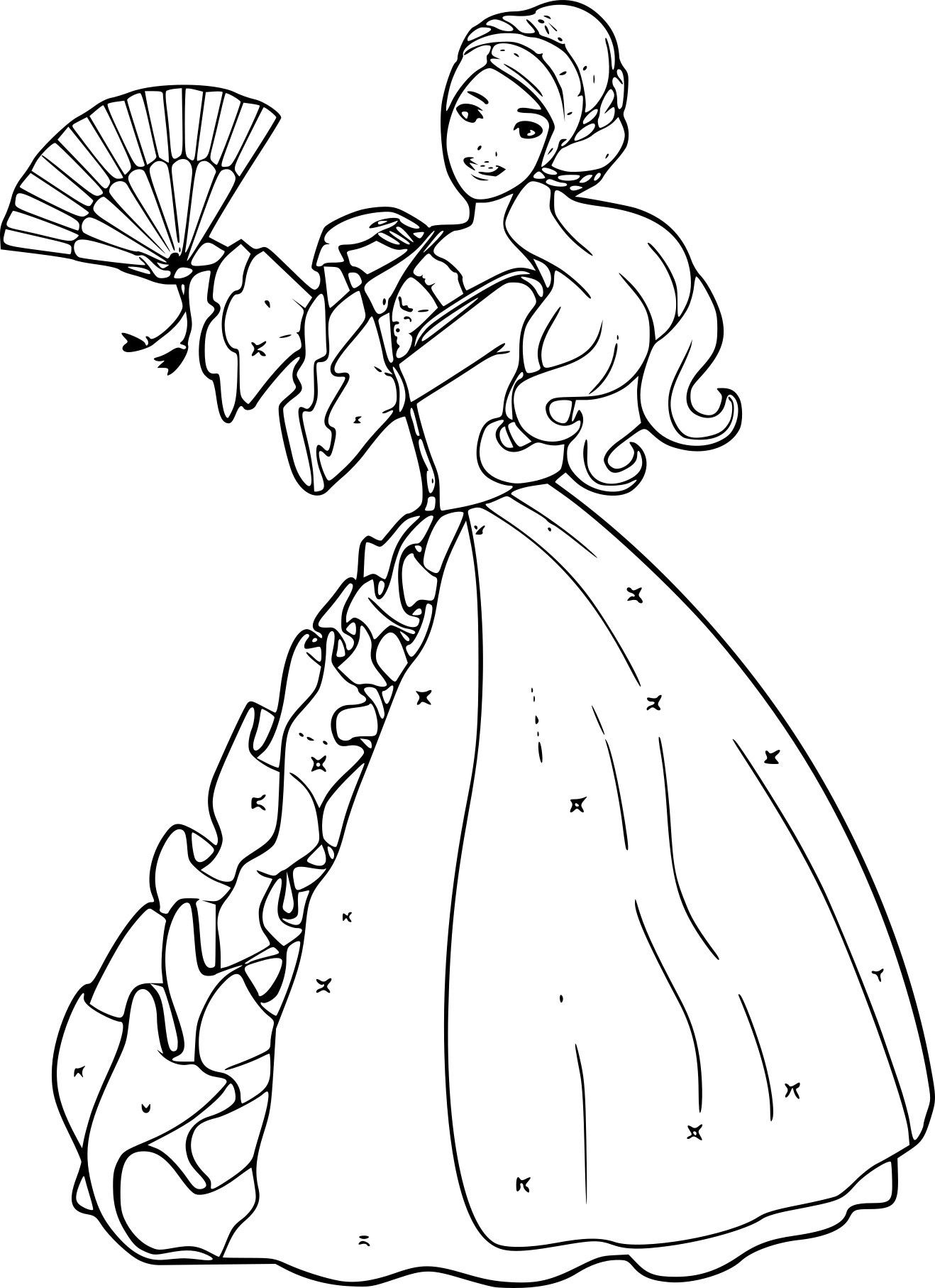 Coloriage Barbie Winx Superbe Disposition Coloriage Barbie Princesse