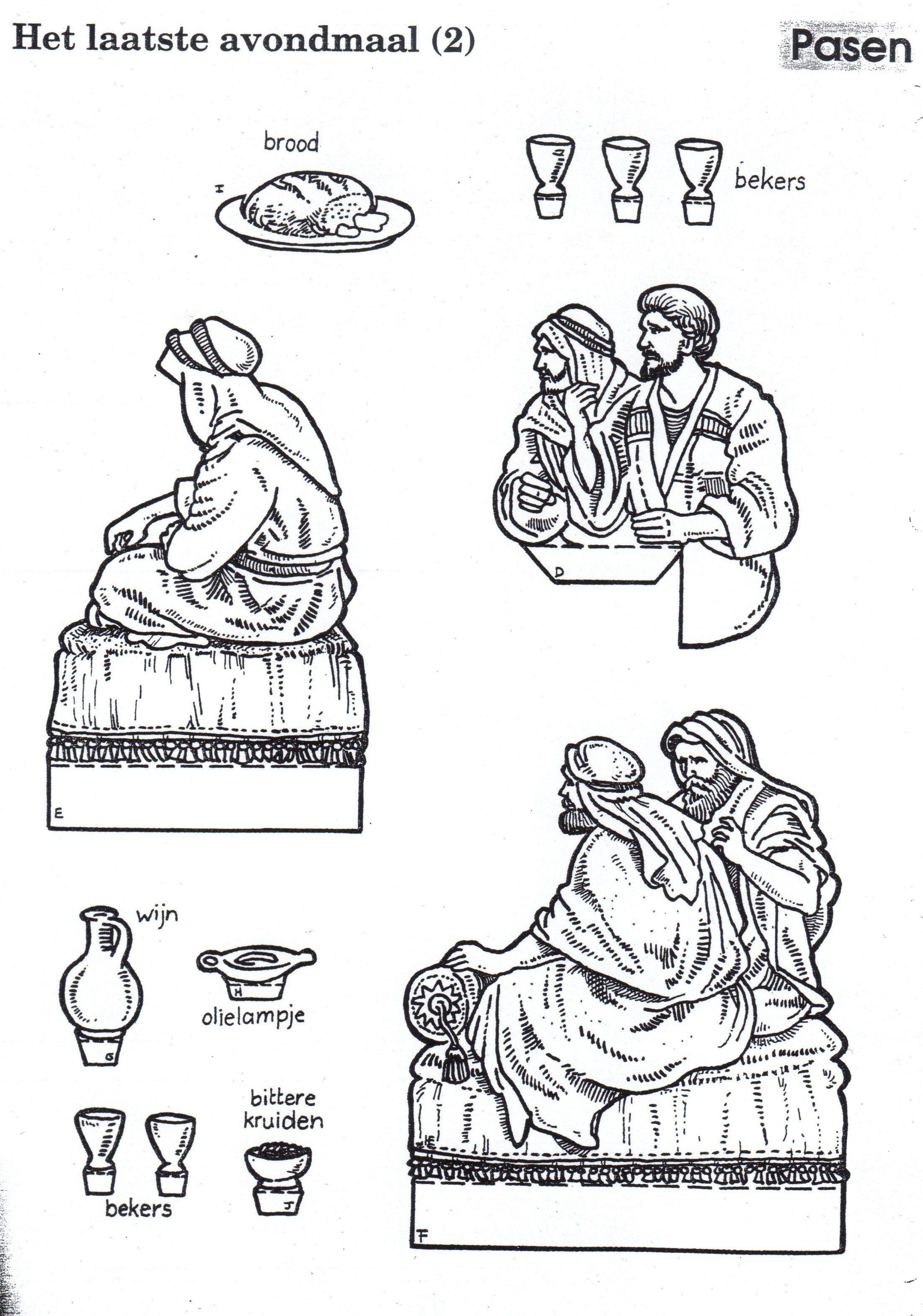tarjeta ultima cena pop up 3. Figuras | biblia manualidades ...