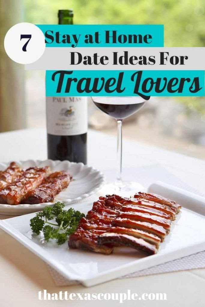 Stay at Home Date Ideas for Couples That Love to Travel #stayathome