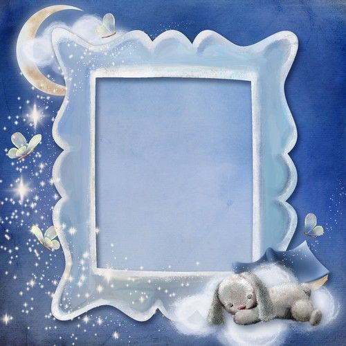 Baby boy photoshop frame - sweet dreams (free photo frame psd + free ...