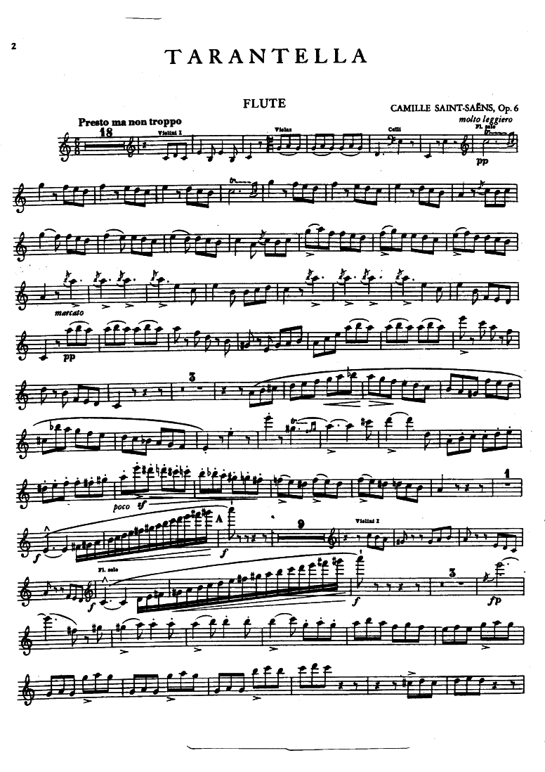 Tarantelle, Op 6 (Saint-Saëns, Camille) - IMSLP/Petrucci Music