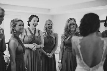 Bridesmaids first look. Photo from Taryn + Dan collection by Jordan DeNike Photography