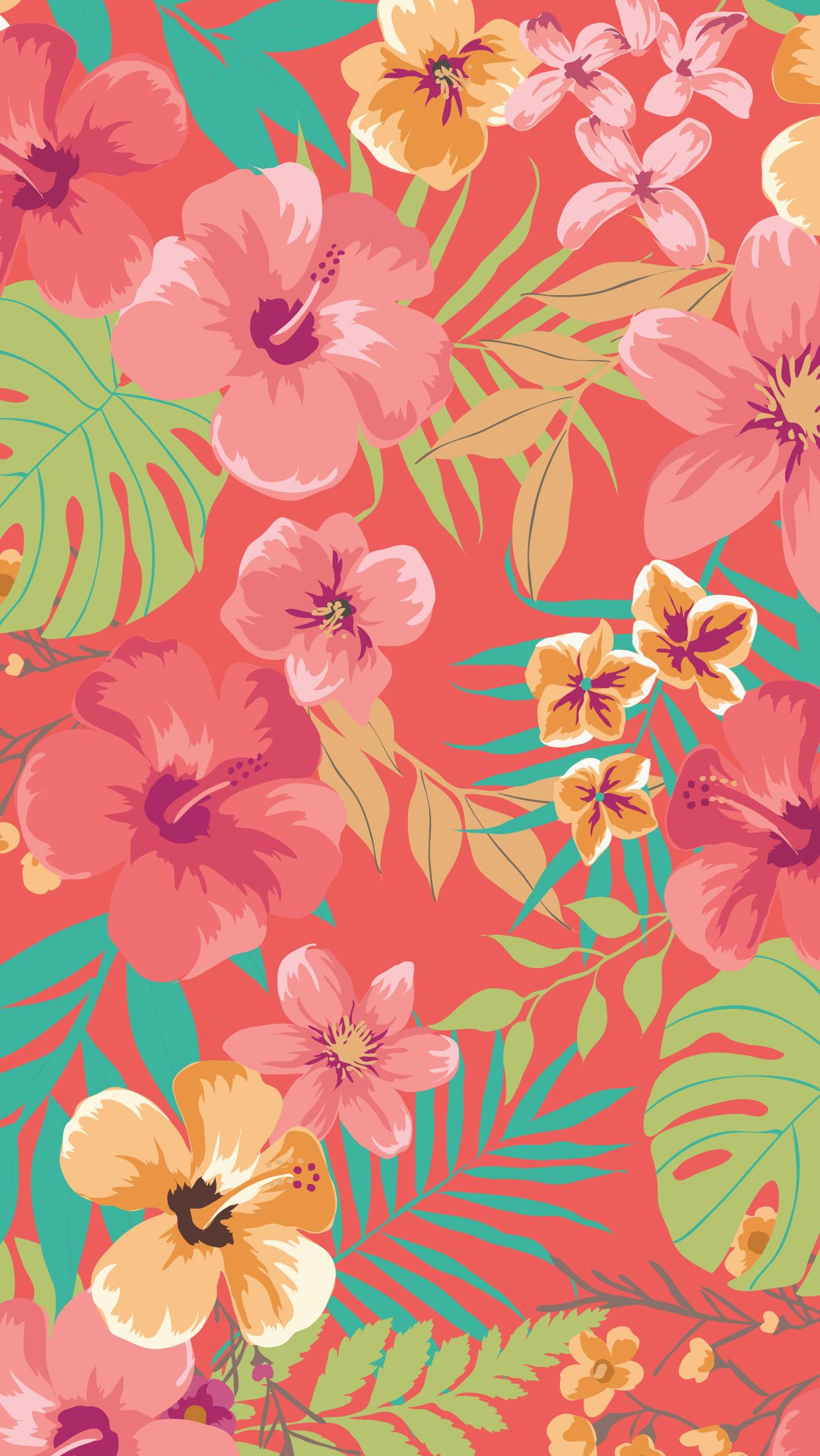 Flores coral Fondos de pantalla del teléfono, Fondos de