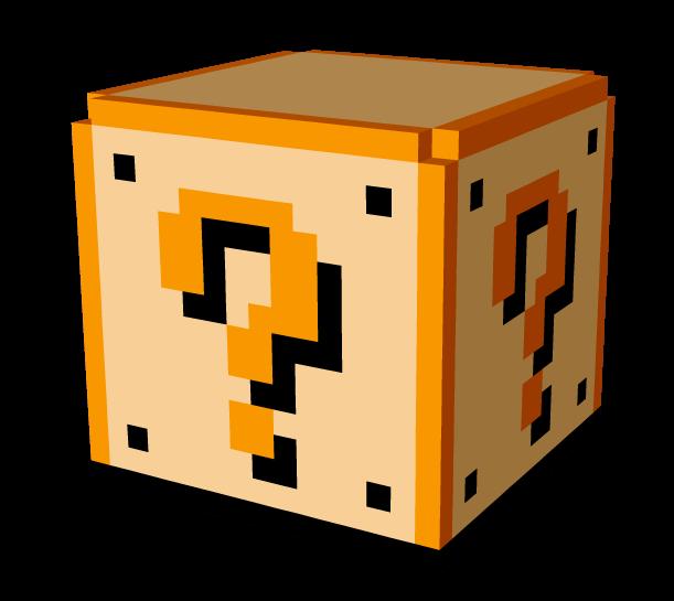 8 Bit Question Block In 3d 11one 1 Super Mario Super Mario Mario Super Smash Brothers