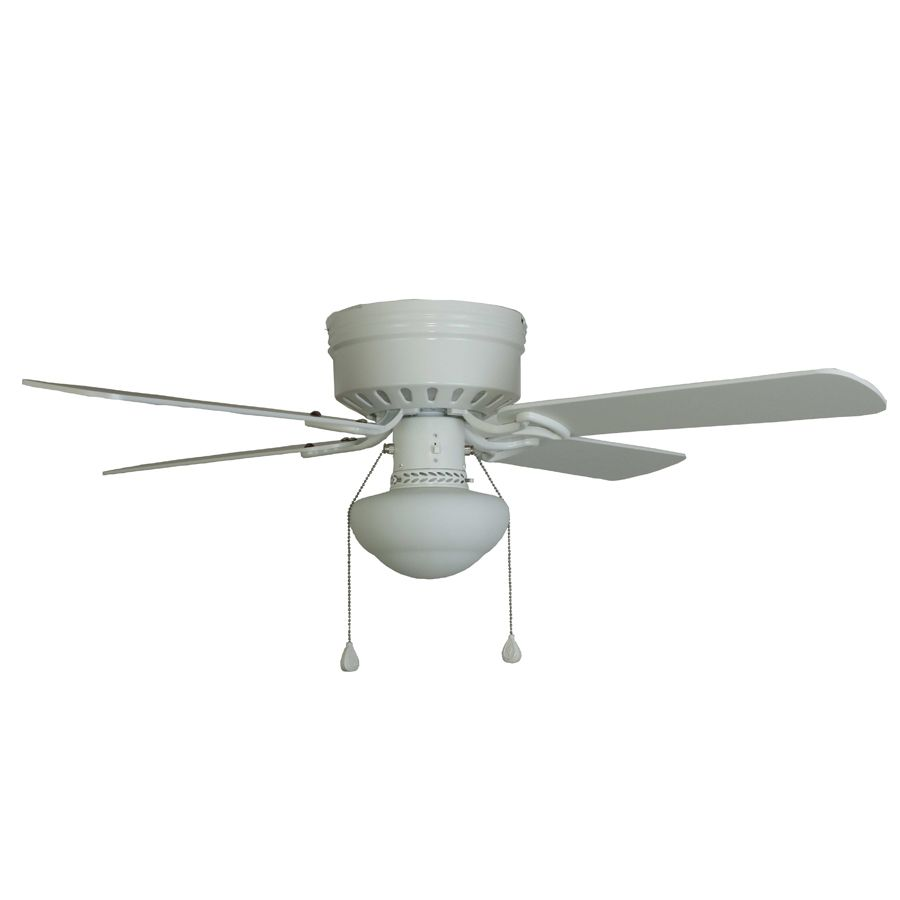 Shop harbor breeze armitage 42 in white flush mount ceiling fan shop harbor breeze armitage 42 in white flush mount ceiling fan with light kit at aloadofball Image collections