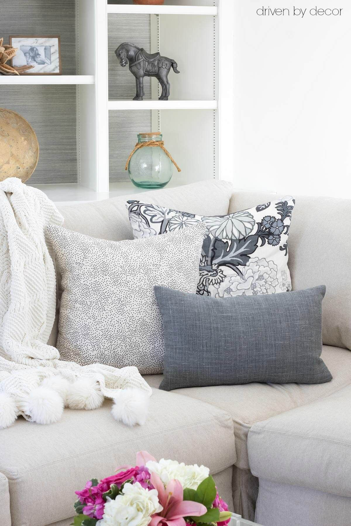 Pillows 101 How to Choose & Arrange Throw Pillows