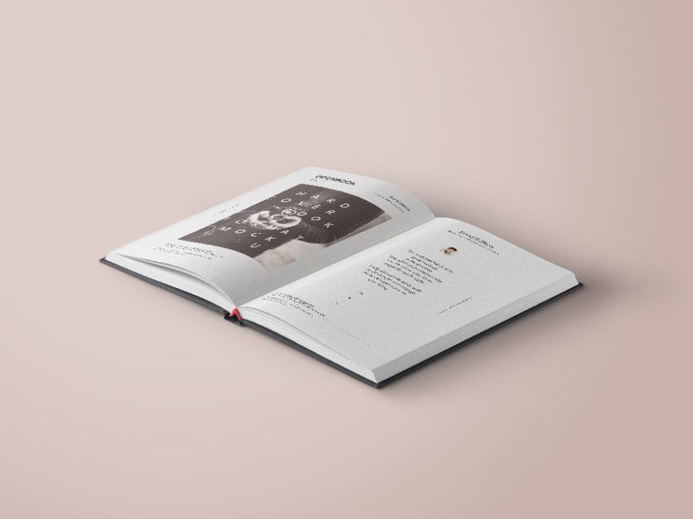 Free Open Hardcover Book Mockup Mockup Free Psd Paper Book Hardcover Book