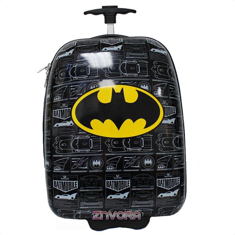 DC Comics Batman Kids Rolling Pilot Carry-on Suitcase Luggage W ...