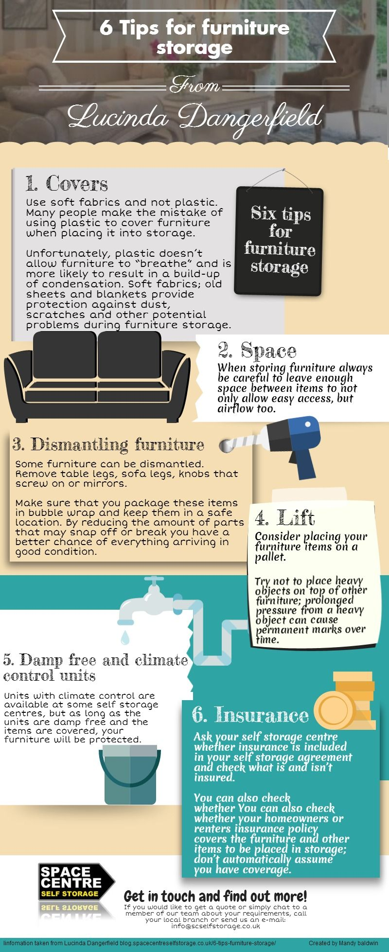 6 Tips for furniture storage
