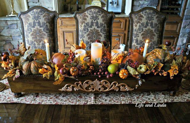 Elegant Wooden Box Centerpiece   Life and Linda -Blog Design, Decorating, Tablescapes, Gardening