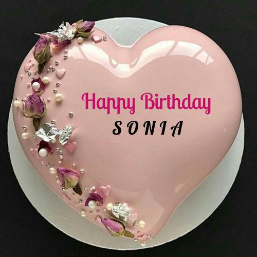 Heart Shaped Birthday Cake With Name With Images Heart Shaped