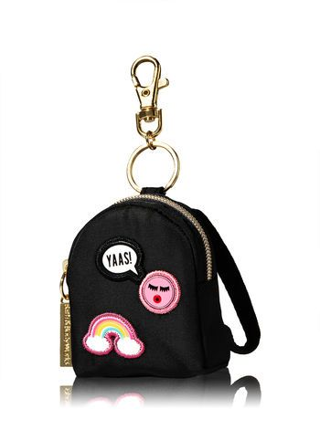 Patches Black Backpack Pocketbac Holder Bath And Body Works